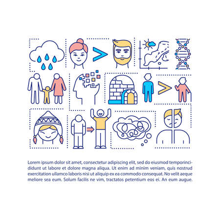Sad risk factors concept icon with text. Mental health problems treatment. Unhappy life. PPT page vector template. Brochure, magazine, booklet design element with linear illustrations