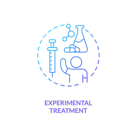 Experimental treatment concept icon. CFS cure idea thin line illustration. Clinical trials. Non-medical, innovative therapies. New therapeutic options. Vector isolated outline RGB color drawing Vettoriali