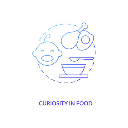Curiosity in food concept icon. Introducing baby food requirements. Different meal to cook. Getting more healthy idea thin line illustration. Vector isolated outline RGB color drawing