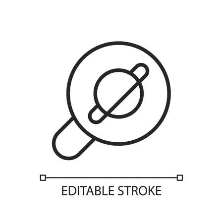 Browser app pixel perfect linear icon. Internet surfing. Accessing information on the World Wide Web. Thin line customizable illustration. Contour symbol. Vector isolated outline drawing. Editable stroke