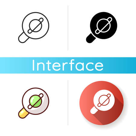 Browser app icon. Internet surfing. Accessing information on the World Wide Web. Viewing websites. Software application. Web searches. Linear black and RGB color styles. Isolated vector illustrations Illusztráció