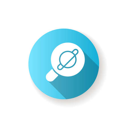 Browser app blue flat design long shadow glyph icon. Internet surfing. Accessing information on the World Wide Web. Viewing websites. Software application. Silhouette RGB color illustration