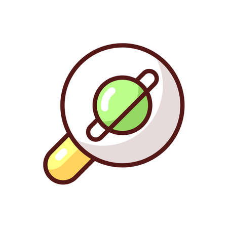 Browser app RGB color icon. Internet surfing. Accessing information on the World Wide Web. Viewing websites. Software application. Web searches. Browser extension. Isolated vector illustration