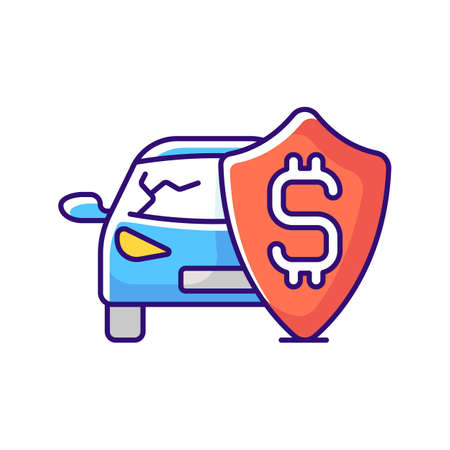 Insurance fee RGB color icon. Protection from financial loss. Management used to hedge against risk of contingent or uncertain looses. Isolated vector illustration
