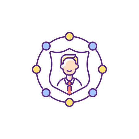 Accountability RGB color icon. Trust in business. Company ethics and policy. Liability and service integrity. Core corporate values. Employee management. Isolated vector illustration