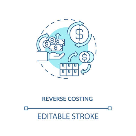 Cost reduction concept icon. Cost reduction strategies idea thin line illustration. Company budget optimization. Profit increase. Vector isolated outline RGB color drawing. Editable stroke