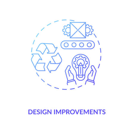 Design improvements concept icon. Cost reduction strategy idea thin line illustration. Company improvement. Value chain components. Business optimization. Vector isolated outline RGB color drawing