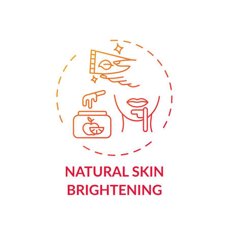 Natural skin brightening concept icon. Home spa idea thin line illustration. Moisturizing skin. Balanced pigmentation. Massaging face with olive oil, honey. Vector isolated outline RGB color drawing