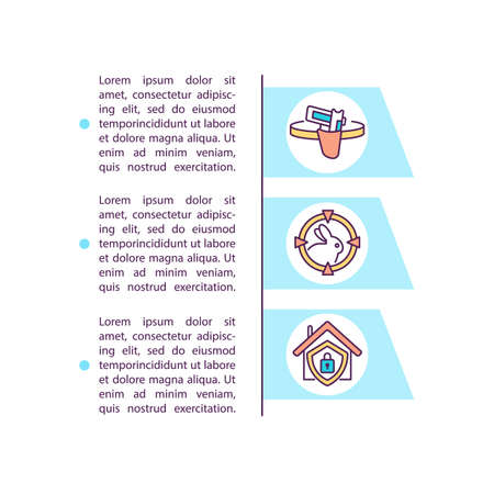 Using weapons according law concept icon with text. Assault weapons PPT page vector template. Protection animals from shooting. Brochure, magazine, booklet design element with linear illustrations