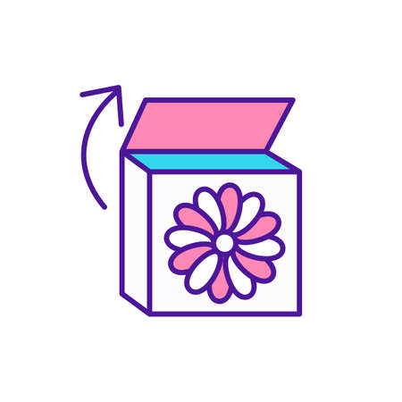 Baby busy box RGB color icon. Item for learning while playing. Develop creativity in children. Skills for preschool kids. Toy for early childhood development. Isolated vector illustration