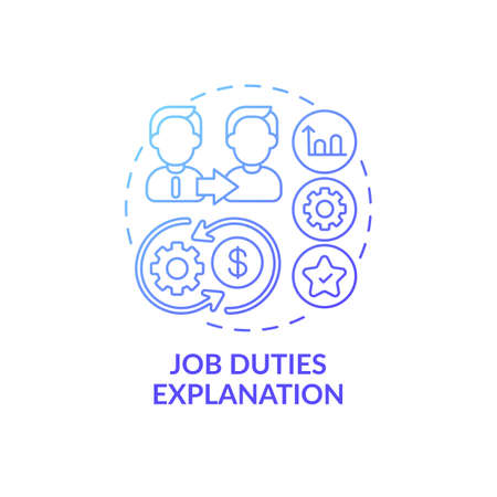 Skills, abilities and knowledge concept icon. Duties and responsibilities idea thin line illustration. Terms of reference. Vector isolated outline RGB color drawing