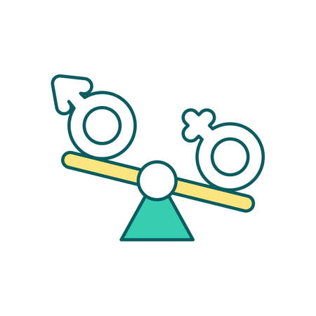 Hormonal imbalance RGB color icon. Hormonal deficit. Thyroid problems. Chronic fatigue syndrome. Abnormal hormones blood levels. Mood swings and depression. Isolated vector illustration