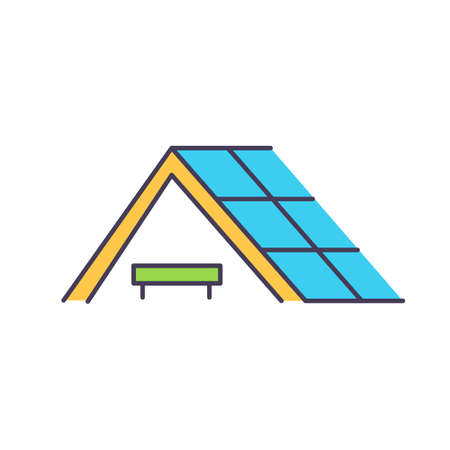 Solar power purchase agreements RGB color icon. Way to reduce electricity bill. Low-maintenance option for installing solar energy system on home. Low electricity rates. Isolated vector illustration
