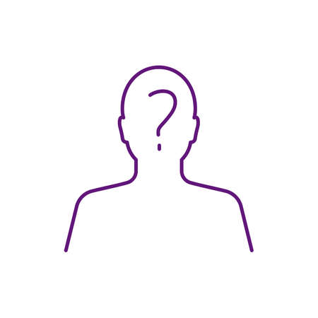 Anonymous face RGB color icon. Unknown, unnamed authorship. Lacking individuality, distinction, recognizability. Unknown person. Anonymous author. Being incognito. Isolated vector illustration Vektoros illusztráció