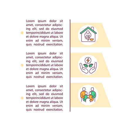 Weatherization assistance program concept icon with text. Global warming reducing. Social responsibility. PPT page vector template. Brochure, magazine, booklet design element with linear illustrations