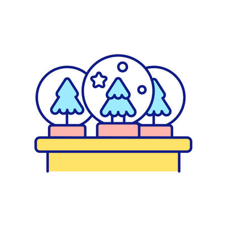 Forgetting about past purchasing RGB color icon. Too busy person. Buying owned item. Clutter personality types. Buying souvenirs and unnecessary trinkets. Isolated vector illustration Vektorové ilustrace