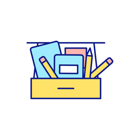 Call cleaning company to office for decluttering RGB color icon. Eliminate dust, dirt, unpleasant odors. Fresh and pristine office. Cleaning up and tidying. Isolated vector illustration Vettoriali