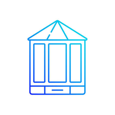 Bay and bow windows gradient linear vector icon. Extending beyond exterior wall. Window space projecting outward. Thin line color symbols. Modern style pictogram. Vector isolated outline drawing