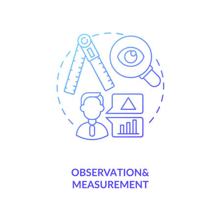 Observations and measurements concept icon. Unit of analysis and observation idea thin line illustration. Quality of information estimation. Vector isolated outline RGB color drawing