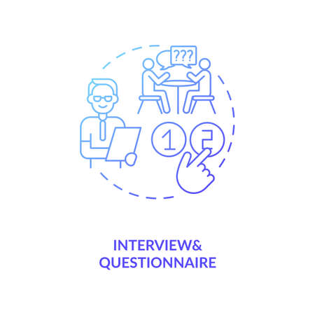 Interview and questonnaire concept icon. Ananlysis of information from customers idea thin line illustration. Qualitative research method. Vector isolated outline RGB color drawing