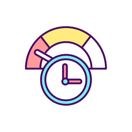 Job loss and reduction in hours RGB color icon. Business and affected workers. Development of unemployment. Lower salary and avoid layoffs. Unemployment and benefits. Isolated vector illustration
