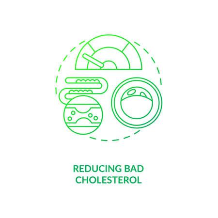 Reducing bad cholesterol dark green concept icon. Healthy eating. Proper metabolism. Intermittent fasting benefits idea thin line illustration. Vector isolated outline RGB color drawing Vektoros illusztráció