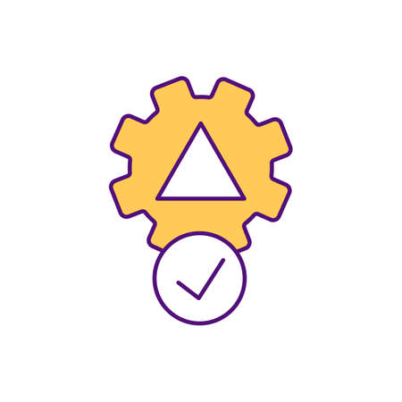 Analogy RGB color icon. Problem solving method. Business management. Check tasks. Efficiency and productivity. Objective for work. Reach goal, achievement. Isolated vector illustration Vecteurs