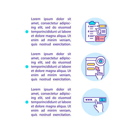 Stop competitive threats concept line icons with text. PPT page vector template with copy space. Brochure, magazine, newsletter design element. Smart content linear illustrations on white