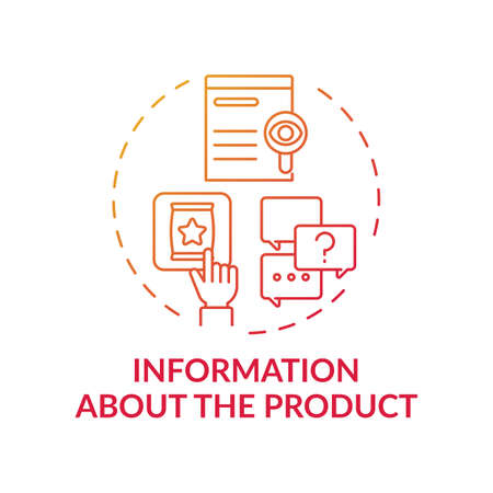 Information about product concept icon. Consumer right idea thin line illustration. Protection against fraud trade practices. Entrepreneurial activities. Vector isolated outline RGB color drawing