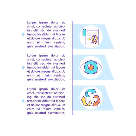 Environmental compliance concept line icons with text. PPT page vector template with copy space. Brochure, magazine, newsletter design element. Preserving environment linear illustrations on white
