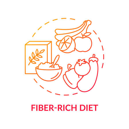 Fiber-rich diet concept icon. Liver health requirement idea thin line illustration. Increasing fiber intake. Achieving healthy weight. Appetite reducing. Vector isolated outline RGB color drawing