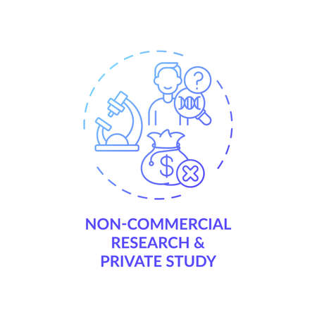 Non-commercial research and private study concept icon. Research project, assignment idea thin line illustration. Knowledge promotion. Making single copies. Vector isolated outline RGB color drawing Vector Illustration