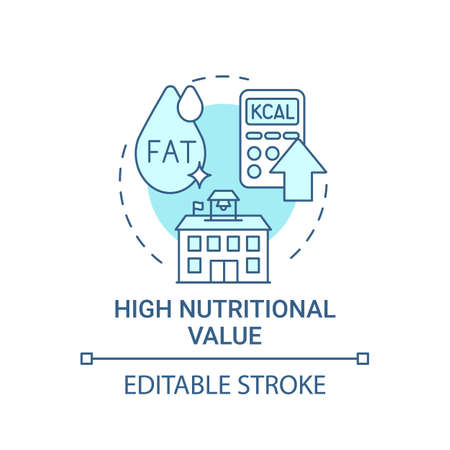 High nutritional value concept icon. School healthy eating plan. Special meal planning full of vitamins idea thin line illustration. Vector isolated outline RGB color drawing. Editable stroke