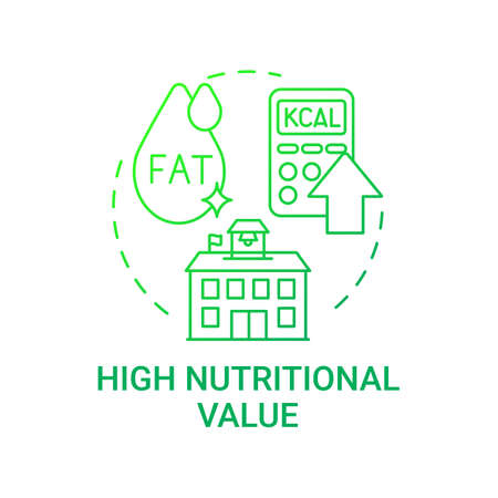 High nutritional value concept icon. School meal requirements. School healthy eating. Special meal planning full of nutritions idea thin line illustration. Vector isolated outline RGB color drawing