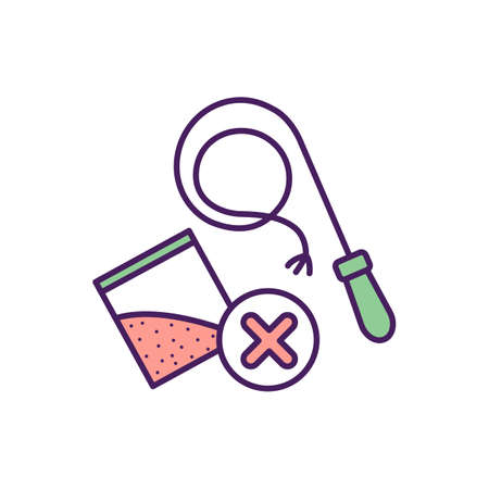 Punnishment for drugs consumption RGB color icon. Isolated vector illustration. uring from narcotics addiction. Dangerous illness treatment. simple filled line drawing. Vektoros illusztráció
