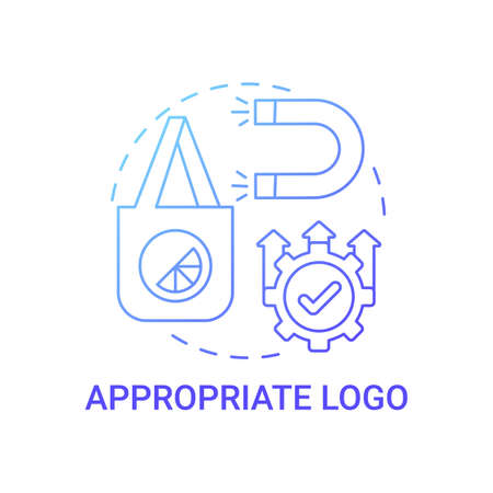 Appropriate logo concept icon. Logotype design principle abstract idea thin line illustration. Reflecting corporate aesthetics. Understanding clients needs. Vector isolated outline color drawing