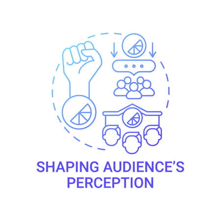 Shaping audience perception concept icon. Strong brand abstract idea thin line illustration. Customer preference and experience. Making purchasing decisions. Vector isolated outline color drawing Vector Illustratie
