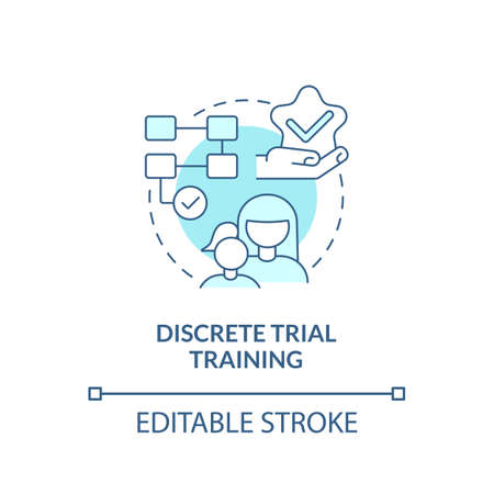 Discrete trial training concept icon. Autistic behavior correction abstract idea thin line illustration. Breaking skill down to isolated targets. Vector isolated outline color drawing. Editable stroke