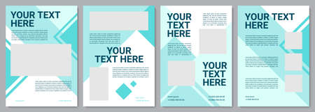 Industry service modern brochure template. Flyer, booklet, leaflet print, cover design with copy space. Your text here. Vector layouts for magazines, annual reports, advertising posters