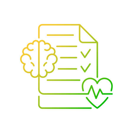 Mental health awareness gradient linear vector icon. Defeating illness stigma. Emotional, social wellbeing. Thin line color symbols. Modern style pictogram. Vector isolated outline drawing