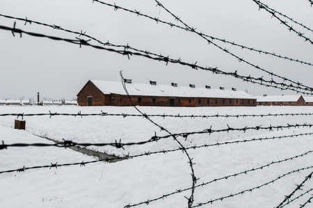 Auschwitz, Lesser Poland  Poland - Feb 04 2018: Auschwitz Birkenau, Nazi concentration and extermination camp.