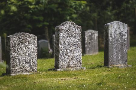 Grave stones in graveyard, Scotland, United Kingdom. 写真素材