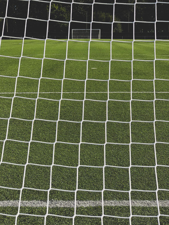 Football / Soccer goal net detail 免版税图像