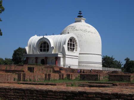 lord buddha: Mahaparinirvana Stupa of Lord Buddha, Kushinagar, India  Stock Photo