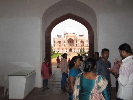 Enterance, to Humayuns s tomb, Delhi, India Stock fotó - 26558795