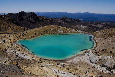 tongariro: Blue Lake, Tongariro Crossing, New Zealand Stock Photo