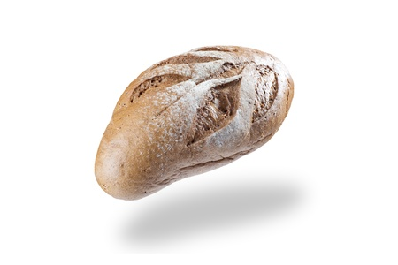 Bread flying in the air on nice background