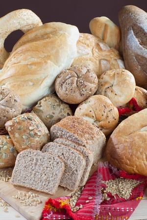 Close up of freshly made bread
