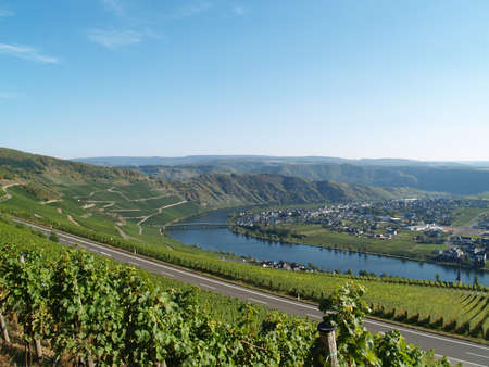mosel: On the Panorama Street at River Mosel