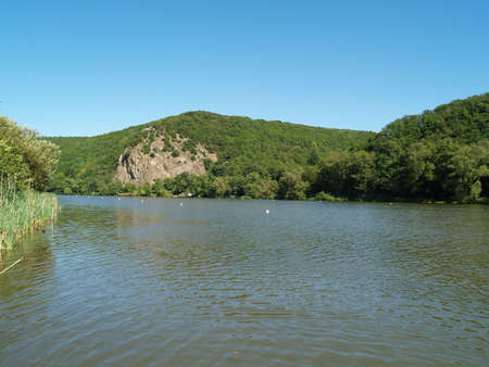 catchment: The catchment lake in Niedernhausen at the river called Nahe